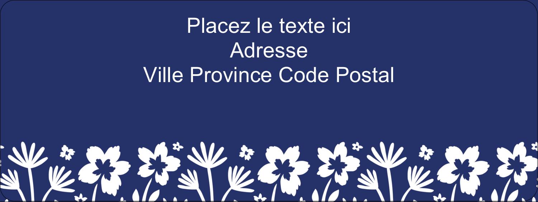 """⅔"""" x 1¾"""" Étiquettes D'Adresse - Petit bouquet bleu"""