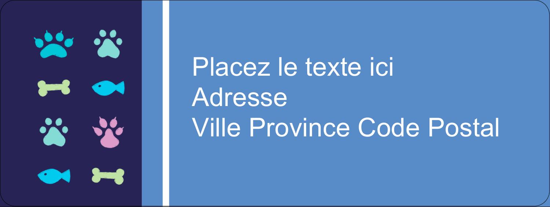 """⅔"""" x 1¾"""" Étiquettes D'Adresse - Amis poilus"""