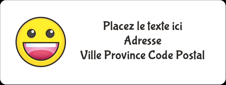 """⅔"""" x 1¾"""" Étiquettes D'Adresse - Visages d'émojis"""