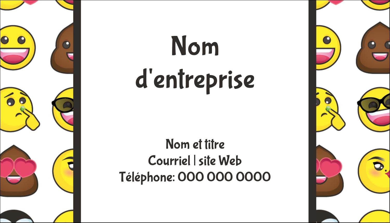"""3½"""" x 2"""" Carte d'affaire - Visages d'émojis"""
