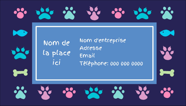 """3½"""" x 2"""" Carte d'affaire - Amis poilus"""