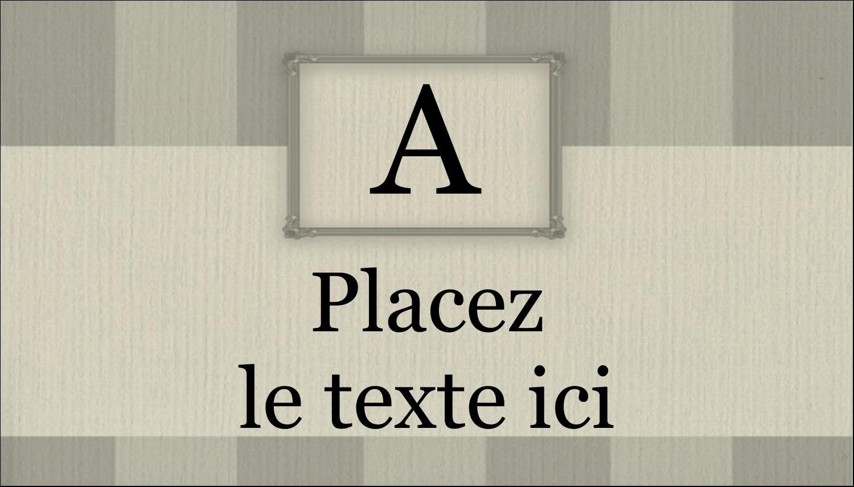 "2"" x 3½"" Carte d'affaire - Initiale ex-libris"