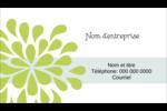 Fleurs bleues et vertes Carte d'affaire - gabarit prédéfini. <br/>Utilisez notre logiciel Avery Design & Print Online pour personnaliser facilement la conception.