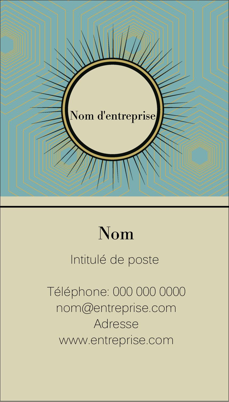 """2"""" x 3½"""" Carte d'affaire - Explosion fauve"""
