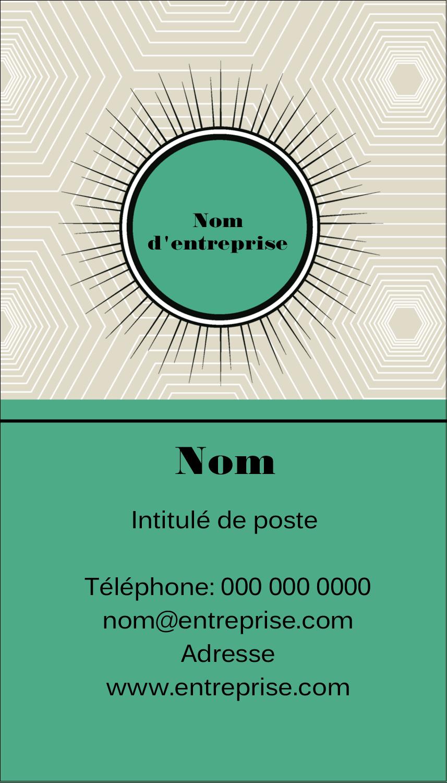 """2"""" x 3½"""" Carte d'affaire - Explosion de vert"""