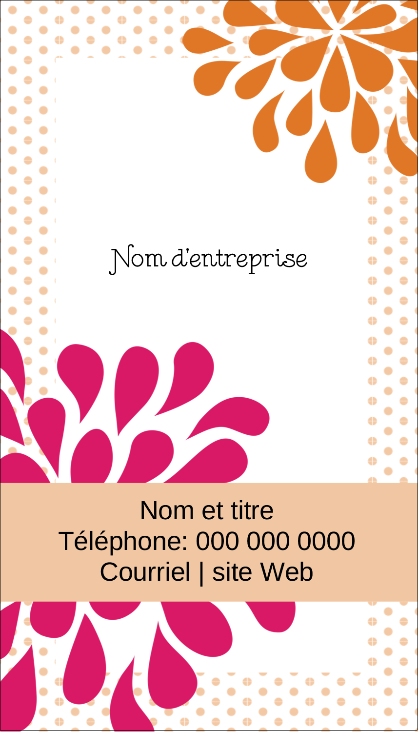 "2"" x 3½"" Carte d'affaire - Fête prénuptiale en rose et orange"