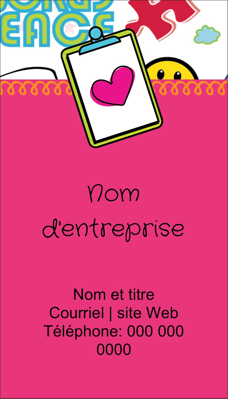 """2"""" x 3½"""" Carte d'affaire - Supermotifs"""