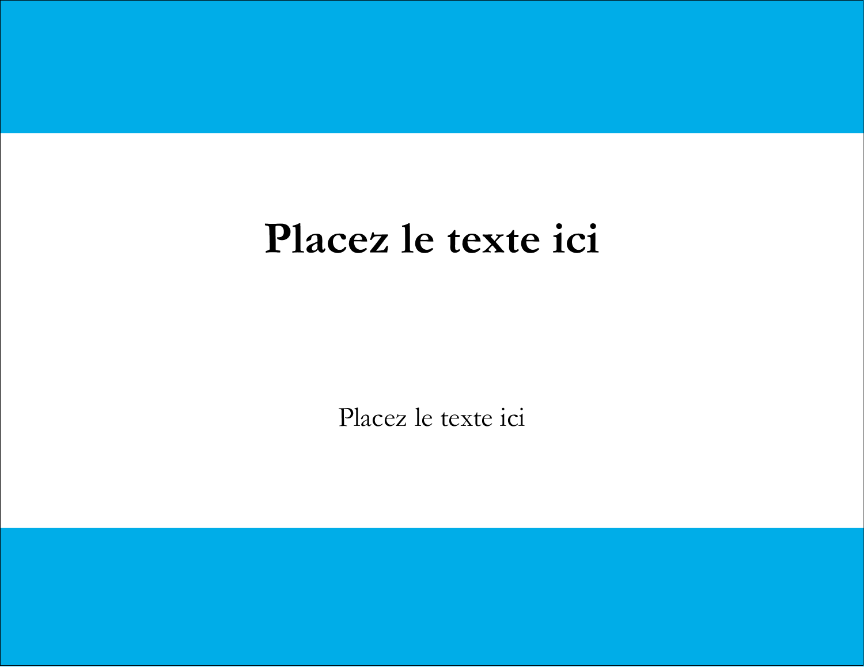 "4¼"" X 5½"" Carte Postale - Barre bleue"