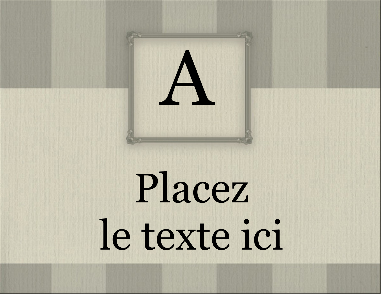 "5½"" x 4¼"" Carte Postale - Initiale ex-libris"