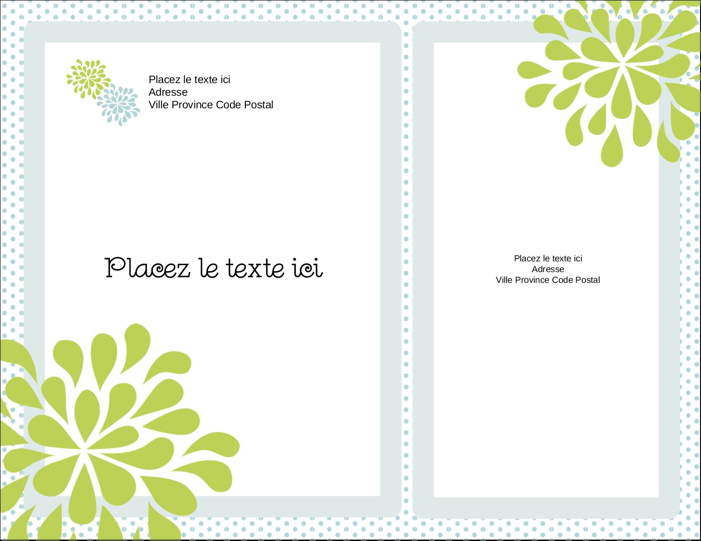"""4¼"""" X 5½"""" Carte Postale - Fleurs bleues et vertes"""