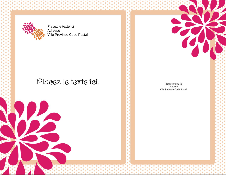 "4¼"" X 5½"" Carte Postale - Fête prénuptiale en rose et orange"