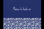 Petit bouquet bleu Carte Postale - gabarit prédéfini. <br/>Utilisez notre logiciel Avery Design & Print Online pour personnaliser facilement la conception.