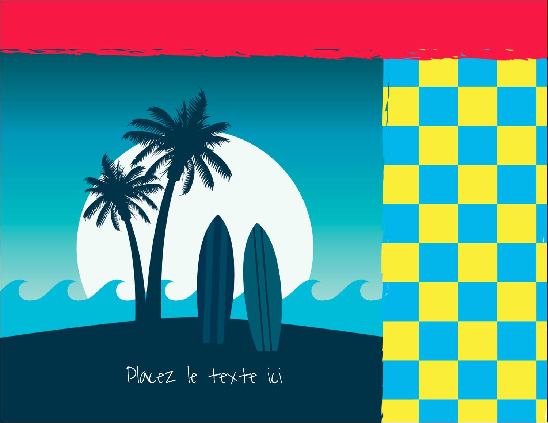 "4¼"" X 5½"" Carte Postale - Surf tropical"