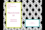 Damas décoratif Carte Postale - gabarit prédéfini. <br/>Utilisez notre logiciel Avery Design & Print Online pour personnaliser facilement la conception.