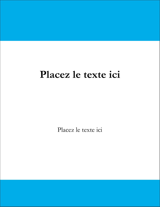 "5½"" x 4¼"" Carte Postale - Barre bleue"