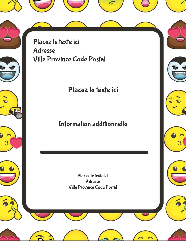 """5½"""" x 4¼"""" Carte Postale - Visages d'émojis"""