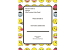 Visages d'émojis Carte Postale - gabarit prédéfini. <br/>Utilisez notre logiciel Avery Design & Print Online pour personnaliser facilement la conception.