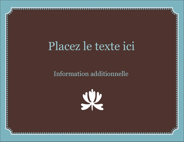 "4¼"" X 5½"" Carte Postale - Bordure en brun et bleu"