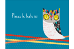 Hibou rusé Carte Postale - gabarit prédéfini. <br/>Utilisez notre logiciel Avery Design & Print Online pour personnaliser facilement la conception.