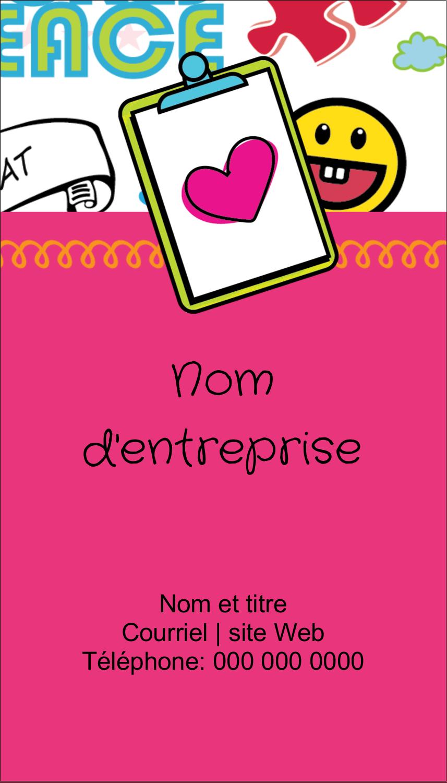 """3½"""" x 2"""" Carte d'affaire - Supermotifs"""