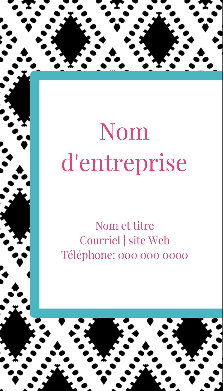 """3½"""" x 2"""" Carte d'affaire - Damas décoratif"""
