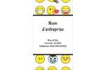 Visages d'émojis Carte d'affaire - gabarit prédéfini. <br/>Utilisez notre logiciel Avery Design & Print Online pour personnaliser facilement la conception.