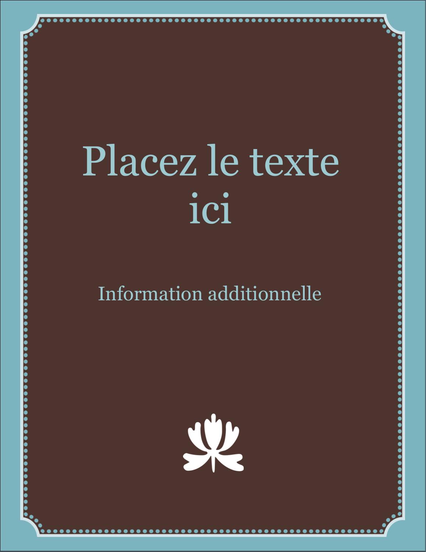 "5½"" x 4¼"" Carte Postale - Bordure en brun et bleu"
