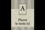 Initiale ex-libris Carte Postale - gabarit prédéfini. <br/>Utilisez notre logiciel Avery Design & Print Online pour personnaliser facilement la conception.