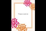 Fête prénuptiale en rose et orange Carte Postale - gabarit prédéfini. <br/>Utilisez notre logiciel Avery Design & Print Online pour personnaliser facilement la conception.