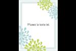 Fleurs bleues et vertes Carte Postale - gabarit prédéfini. <br/>Utilisez notre logiciel Avery Design & Print Online pour personnaliser facilement la conception.