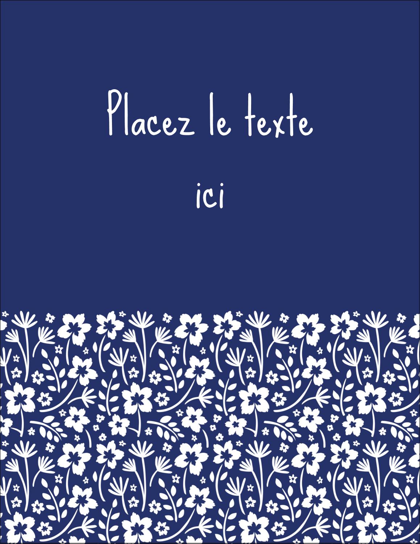 """5½"""" x 4¼"""" Carte Postale - Petit bouquet bleu"""