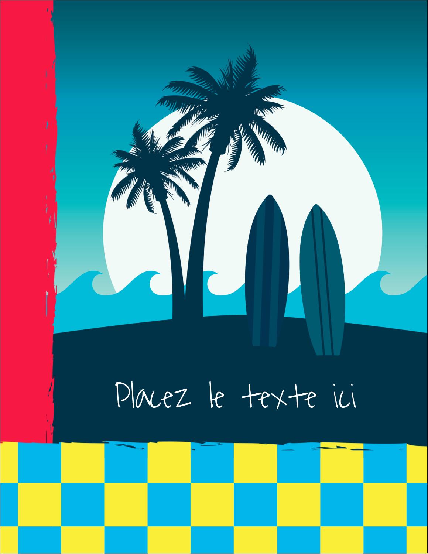 "5½"" x 4¼"" Carte Postale - Surf tropical"