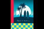 Surf tropical Carte Postale - gabarit prédéfini. <br/>Utilisez notre logiciel Avery Design & Print Online pour personnaliser facilement la conception.