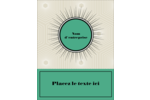 Explosion de vert Carte Postale - gabarit prédéfini. <br/>Utilisez notre logiciel Avery Design & Print Online pour personnaliser facilement la conception.