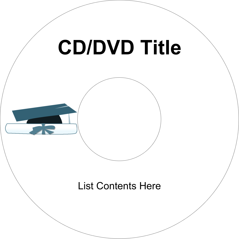 "4.65"" CD-DVD Label - Blue Graduation"