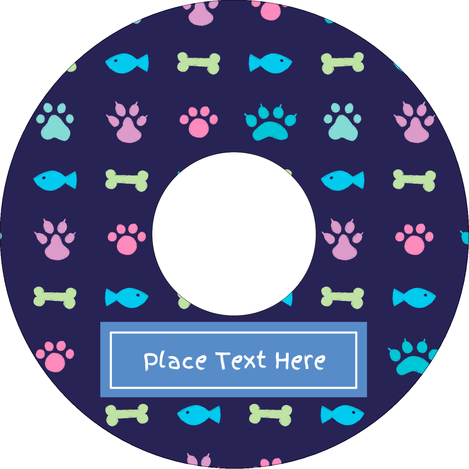"4.65"" CD-DVD Label - Furry Friends"