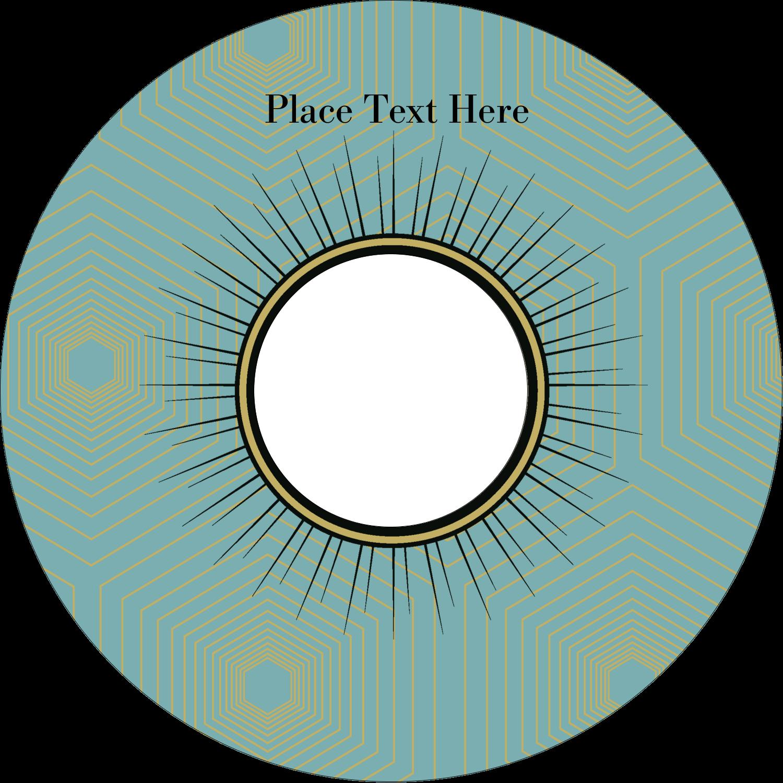 "4.65"" CD-DVD Label - Burst Tan"