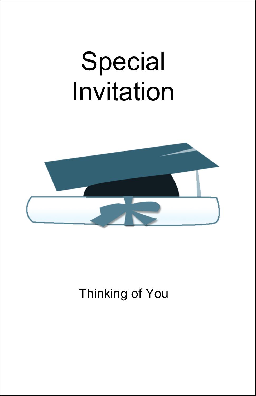 "5"" x 8½"" Half Fold Card - Blue Graduation"
