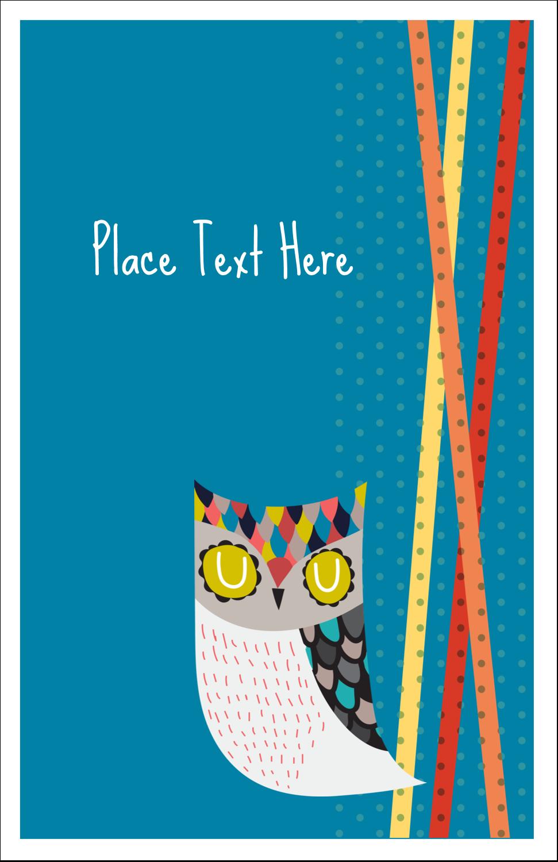 "5"" x 8½"" Half Fold Card - Artful Owl"