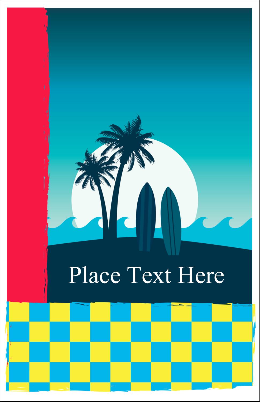 "5"" x 8½"" Half Fold Card - Tropical Surf"