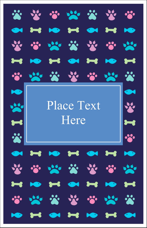 "5"" x 8½"" Half Fold Card - Furry Friends"