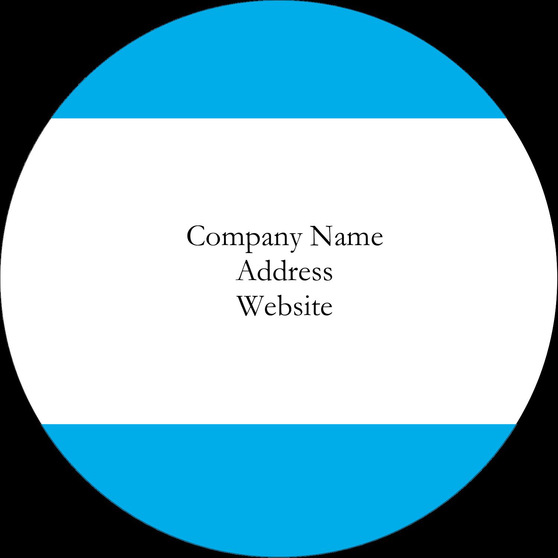 """1½"""" Round Label - Blue Bar"""