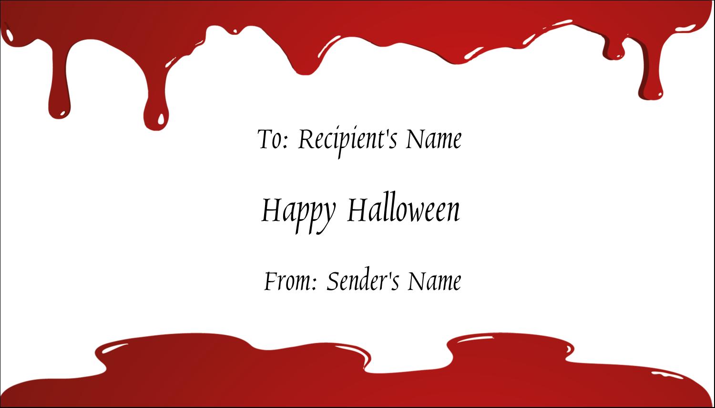 "2"" x 3½"" Business Card - Bloody Halloween"