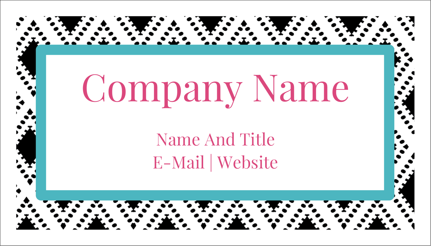 "2"" x 3½"" Business Card - Decorative Damask"