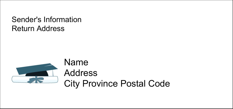 "4¼"" x 2"" Mailing Label - Blue Graduation"