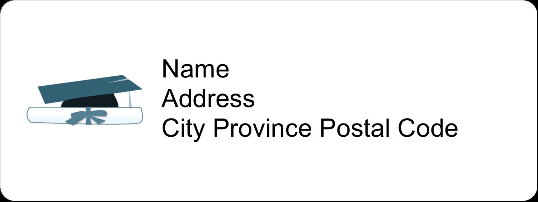 "⅔"" x 1¾"" Address Label - Blue Graduation"