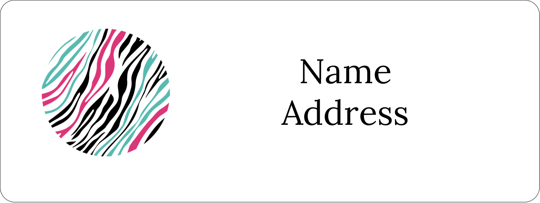 "⅔"" x 1¾"" Address Label - Animal Prints"