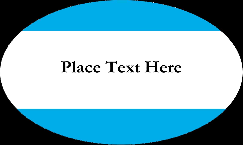 "1½"" x 2½"" Oval Glossy Label - Blue Bar"