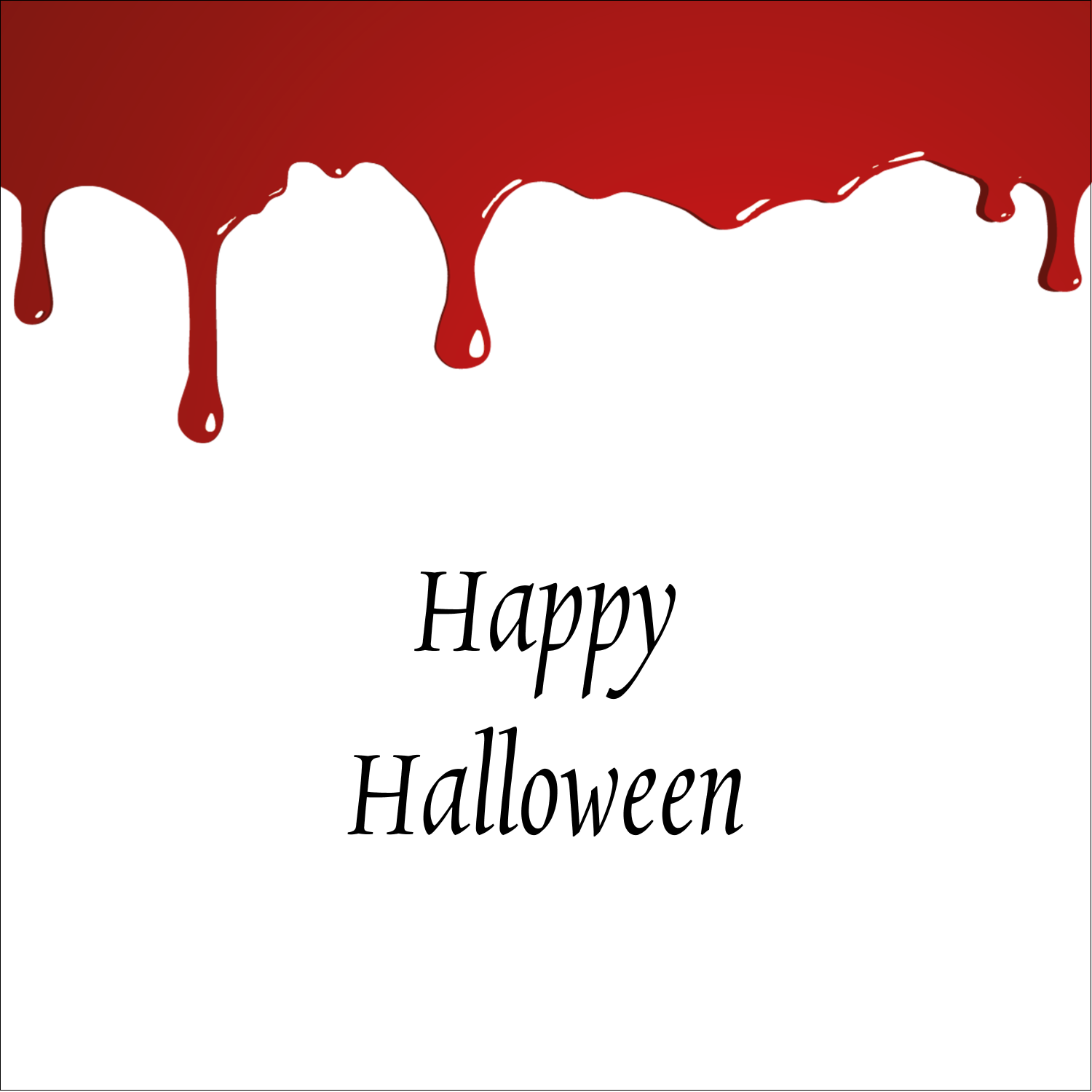 "1½"" x 1½"" Square Label - Bloody Halloween"