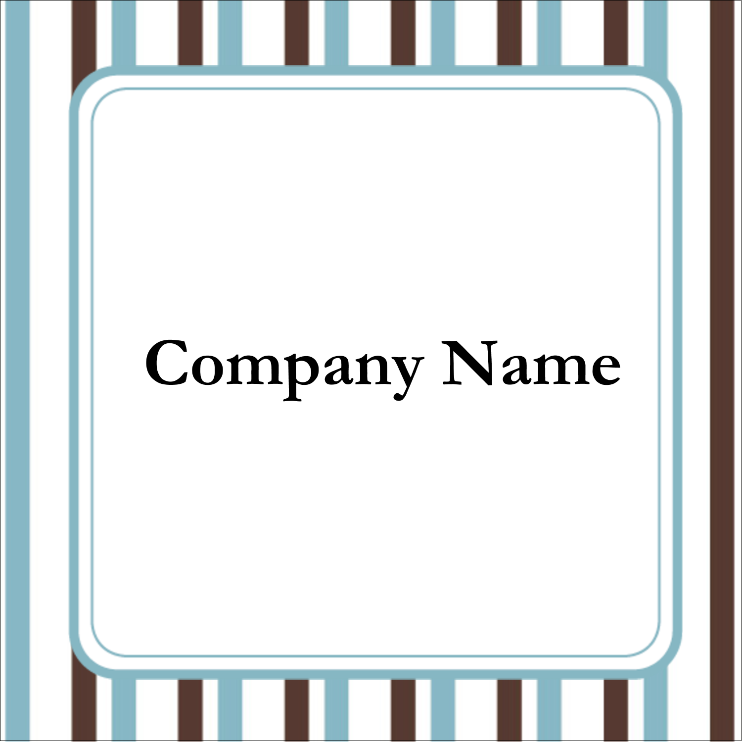 "1½"" x 1½"" Square Label - Blue Stripes"